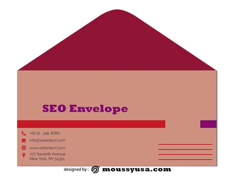 SEO Envelope Design Template