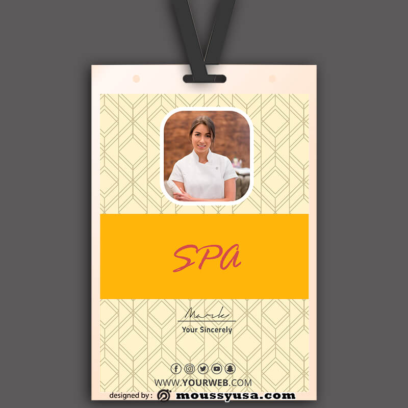 SPA ID Card Template Ideas