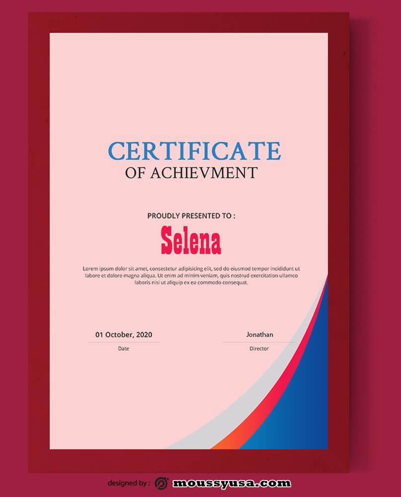 Sample Achievment Certificate Template