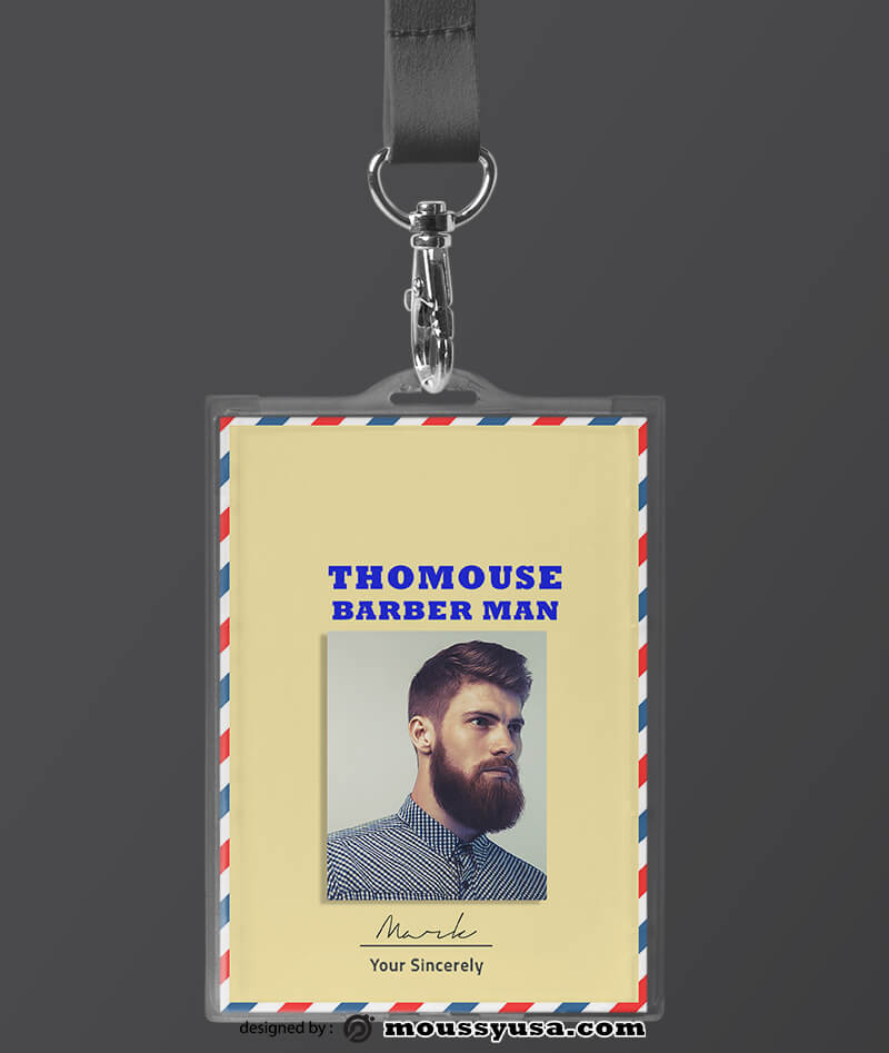 Sample Barbershop ID Card Template