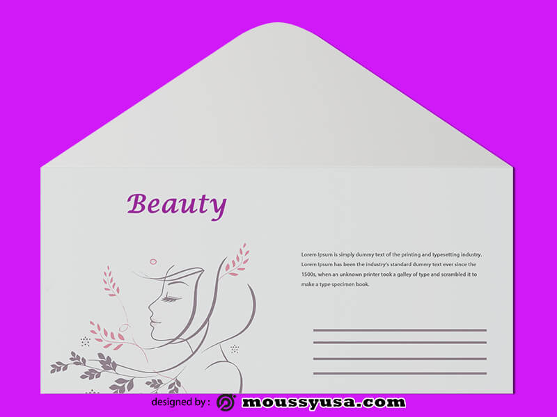 Sample Beauty Parlor Envelope Templates