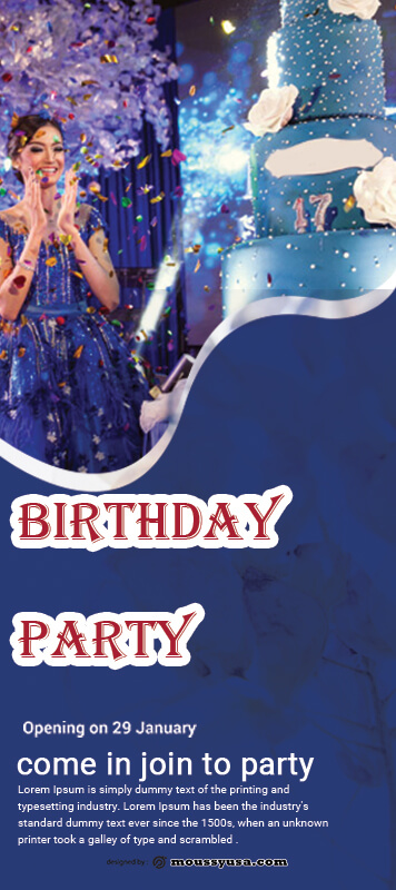 Sample Birthday Party Banner Template