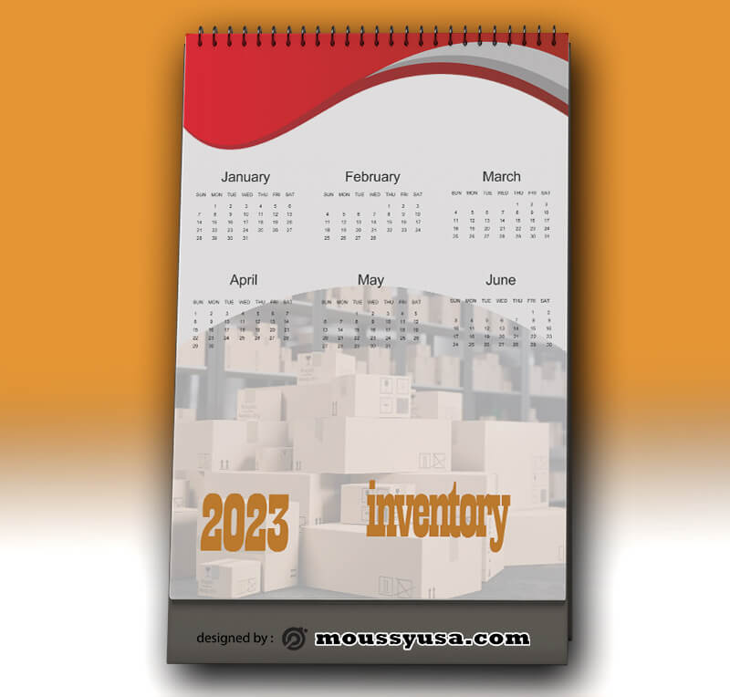 Sample Business Inventory Calender Template