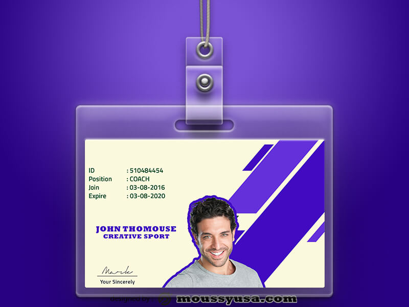 Sample Creative Sport ID Card Template