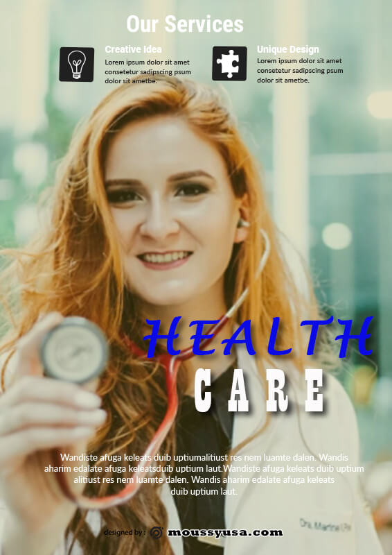 Sample Health Care Poster Template