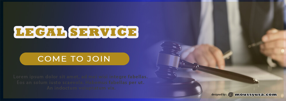 Sample Legal Service Banner Template
