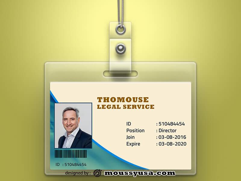 Sample Legal Service ID Card Templates