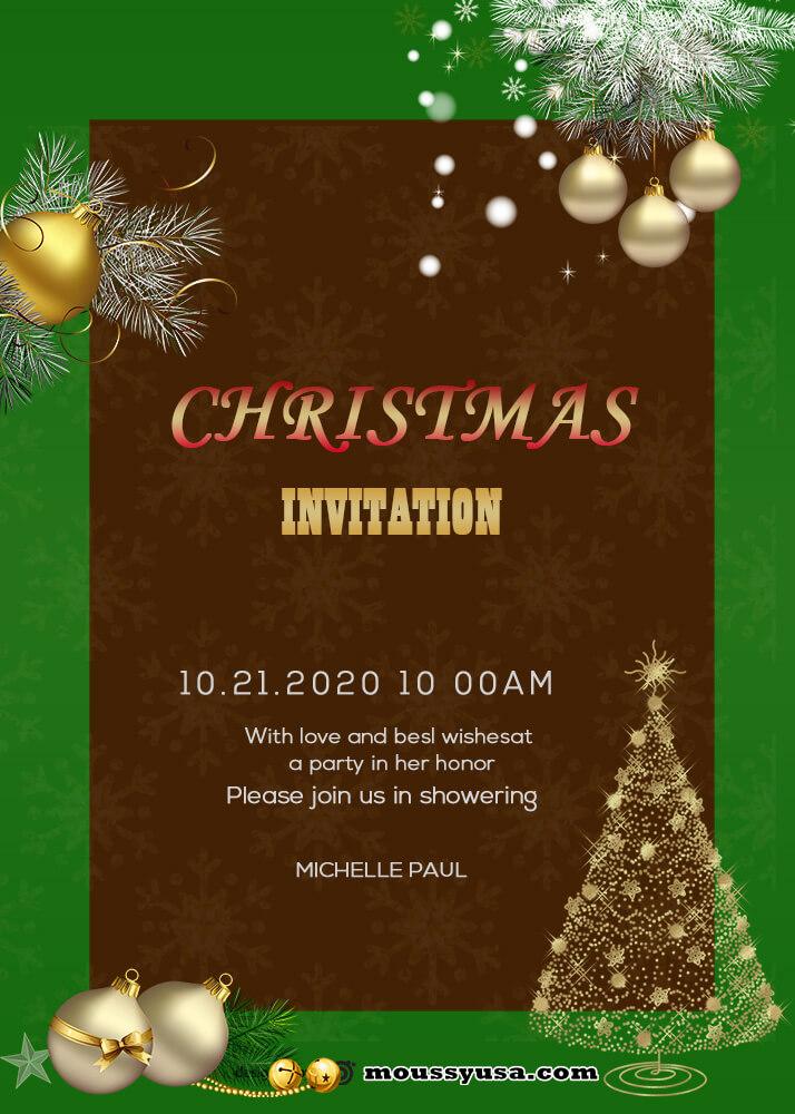 Sample Merry Christmas Invitation Templates