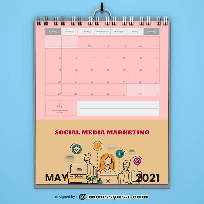 Sample Social Media Marketing Calender Template