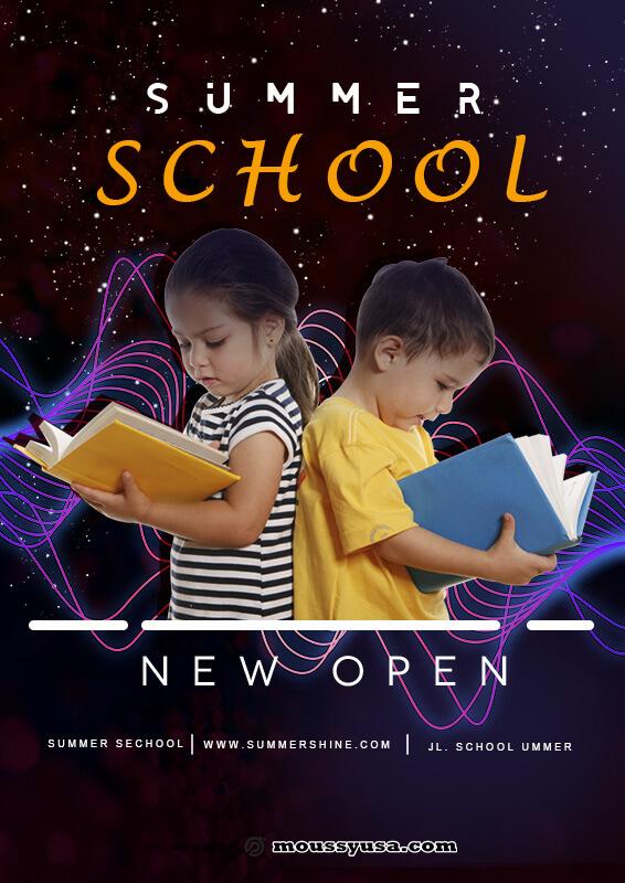 Sample Summer School Poster Template