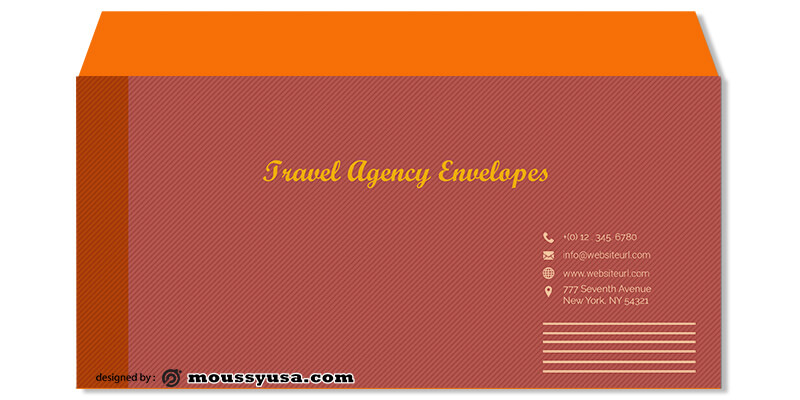 Sample Travel Agency Envelope Template