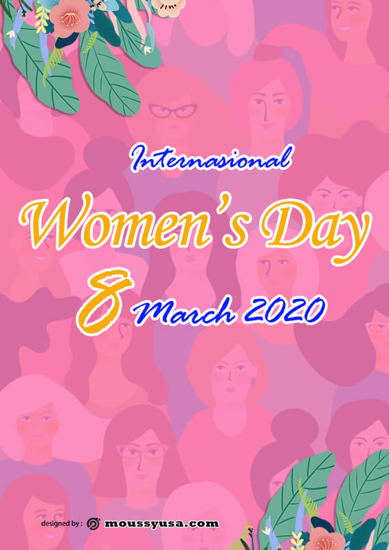 Sample Womens Day Poster Template