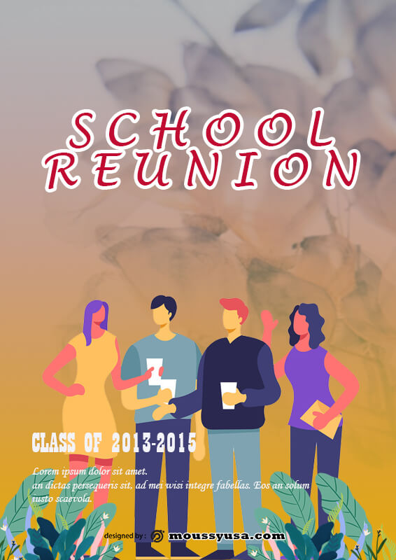School Reonion Poster Template Design