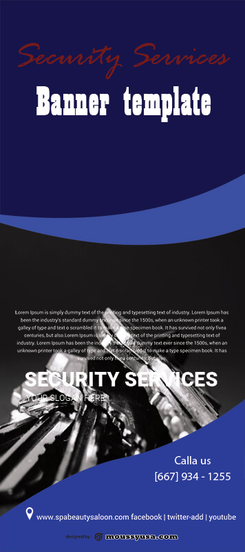 Security Services Banner Template Design