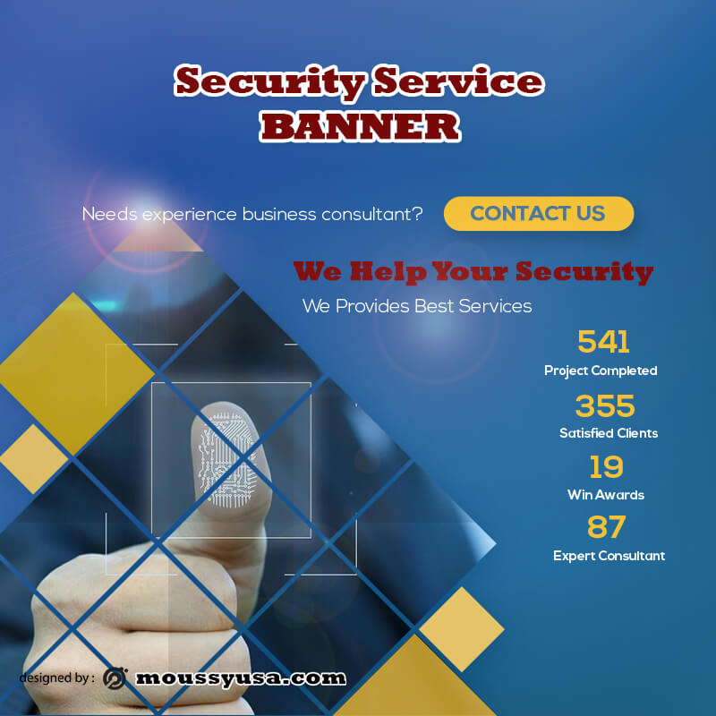 Security Services Banner Template Example