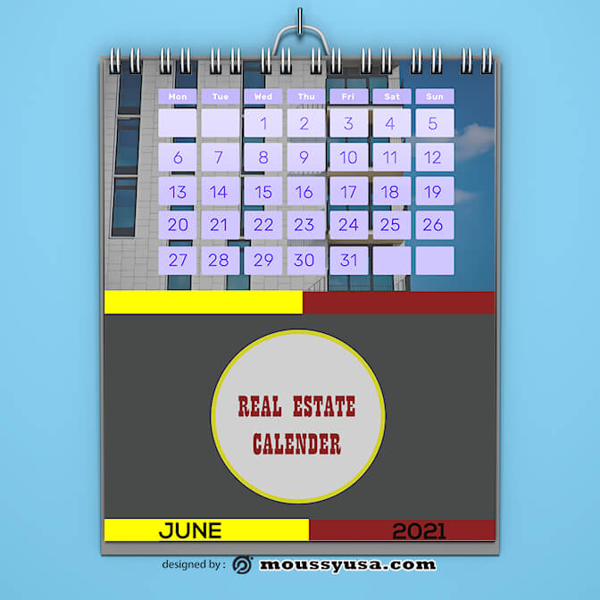 Sempel Real Estate Calender Template
