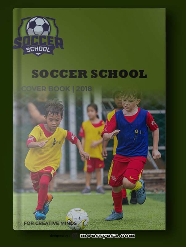 Soccer Book Cover Template Sample