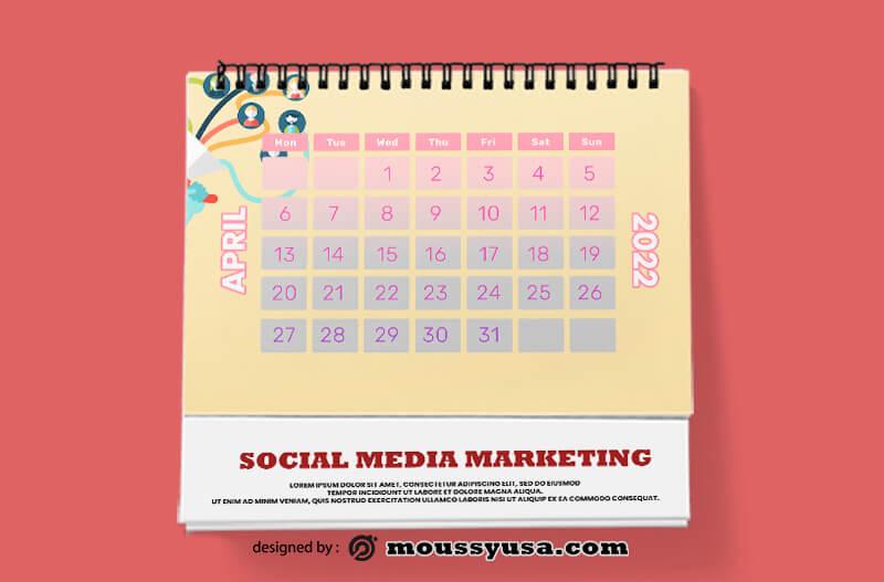 Social Media Marketing Calender Template Ideas