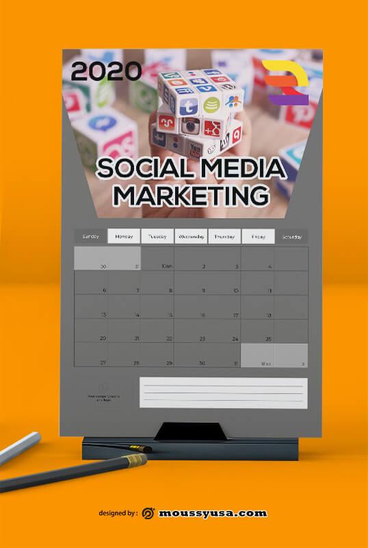 Social Media Marketing Calender Template Sample