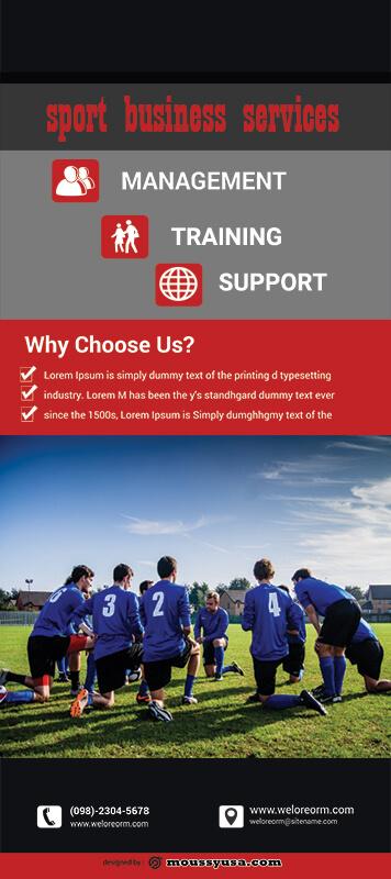Sport Banner Design PSD