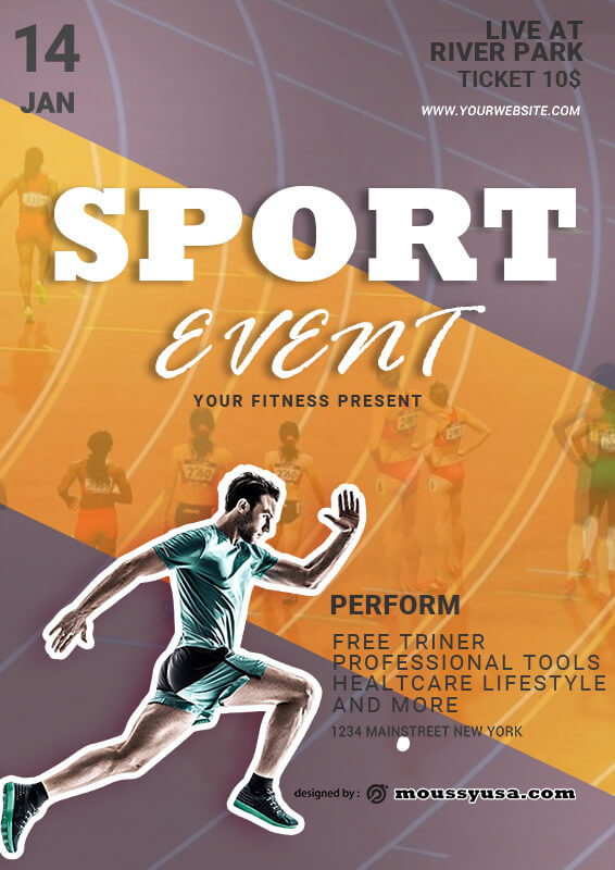 Sport Event Poster Design Ideas