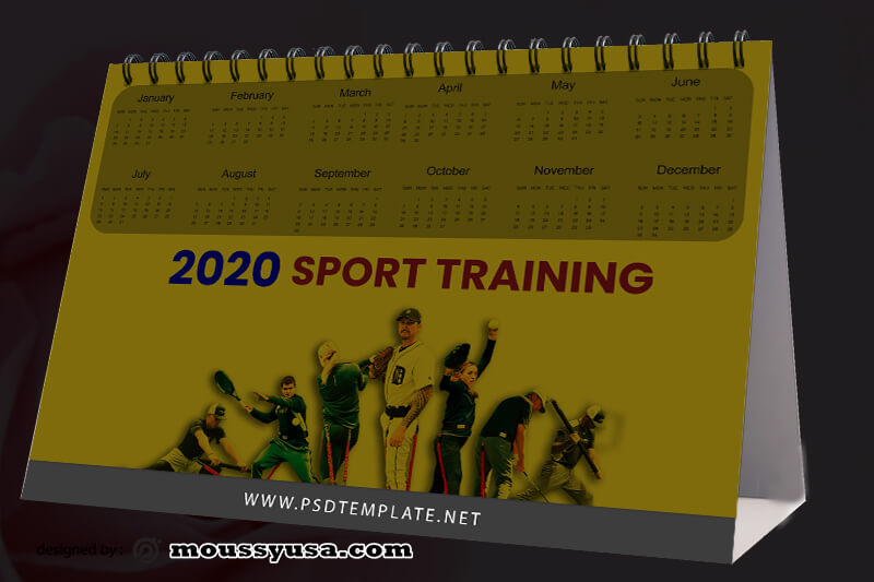Sport Training Caleder Design PSD