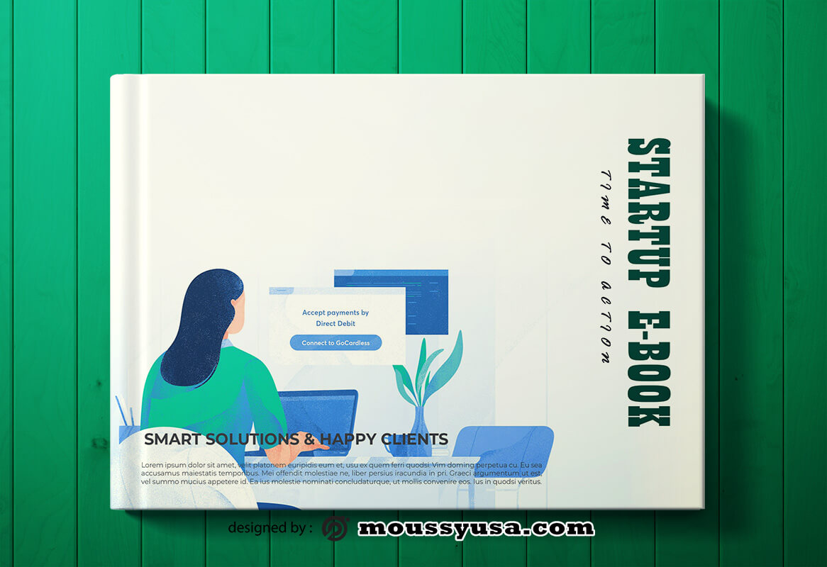 Startup Business Book Cover Template Design