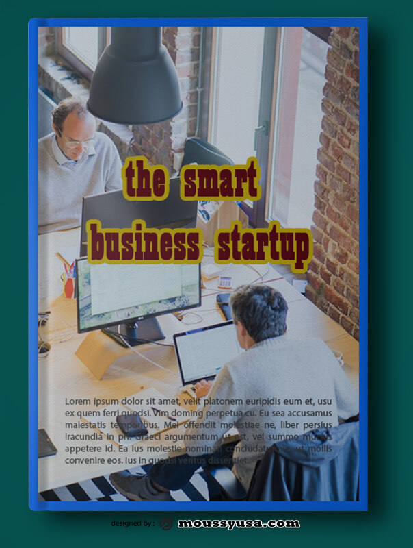 Startup Business Book Cover Template Example