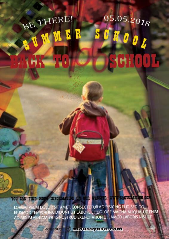 Summer School Poster Template Ideas