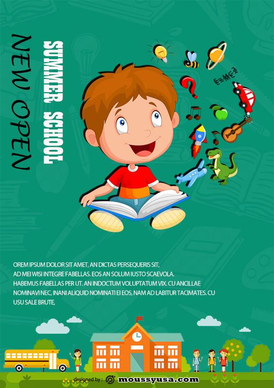 Summer School Poster Template Sample