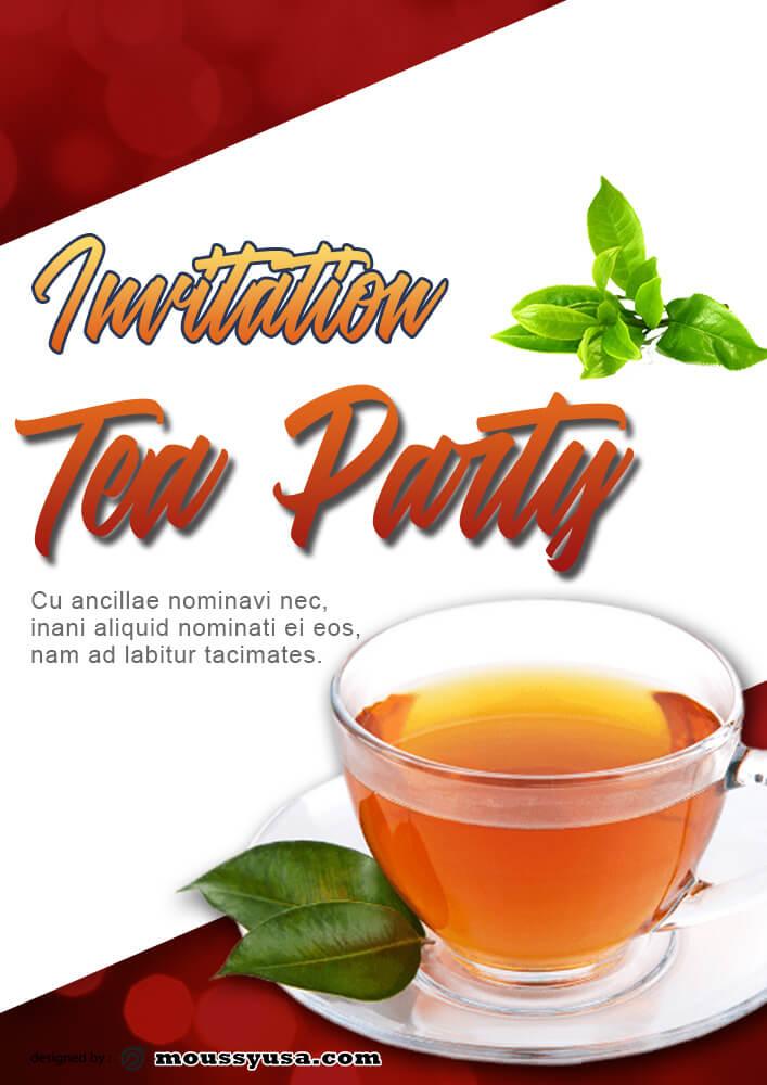 Tea Party Invitation Template Example