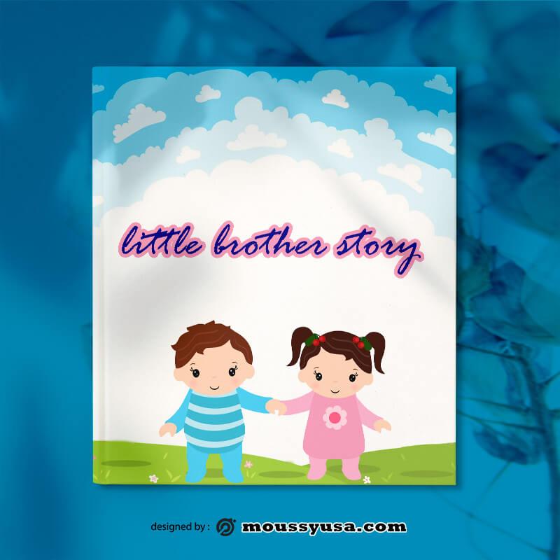 Toddler Book Cover Design PSD