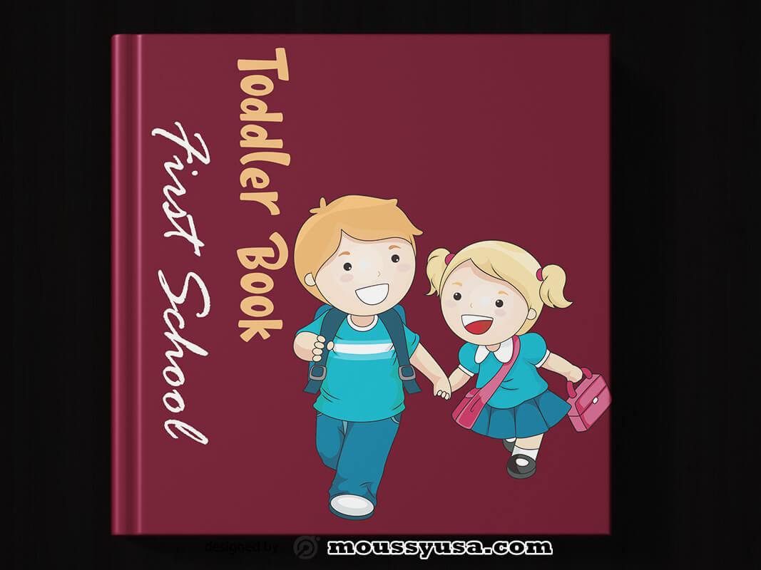 Toddler Book Cover Template Design