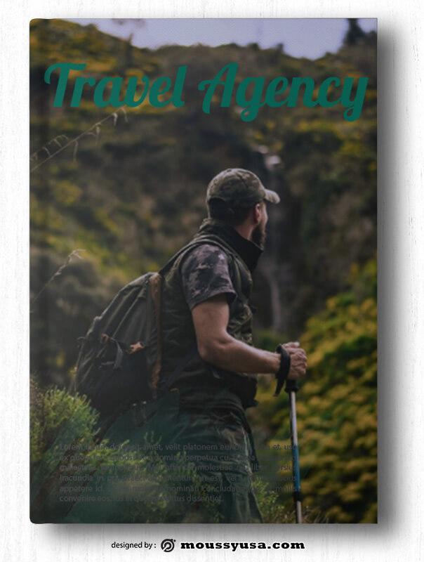 Travel Agency Book Cover Design PSD
