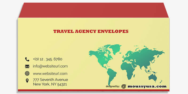 Travel Agency Envelope Template Ideas