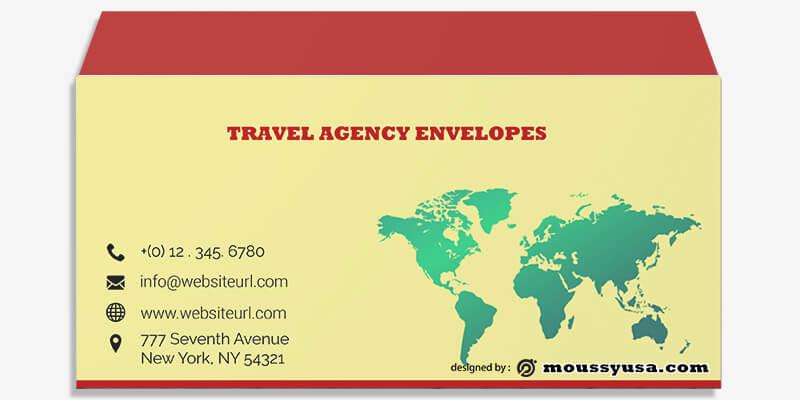 Travel Agency Envelope Template Ideas