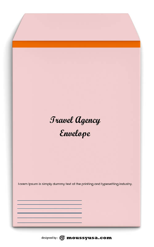 Travel Agency Envelope Template Sample