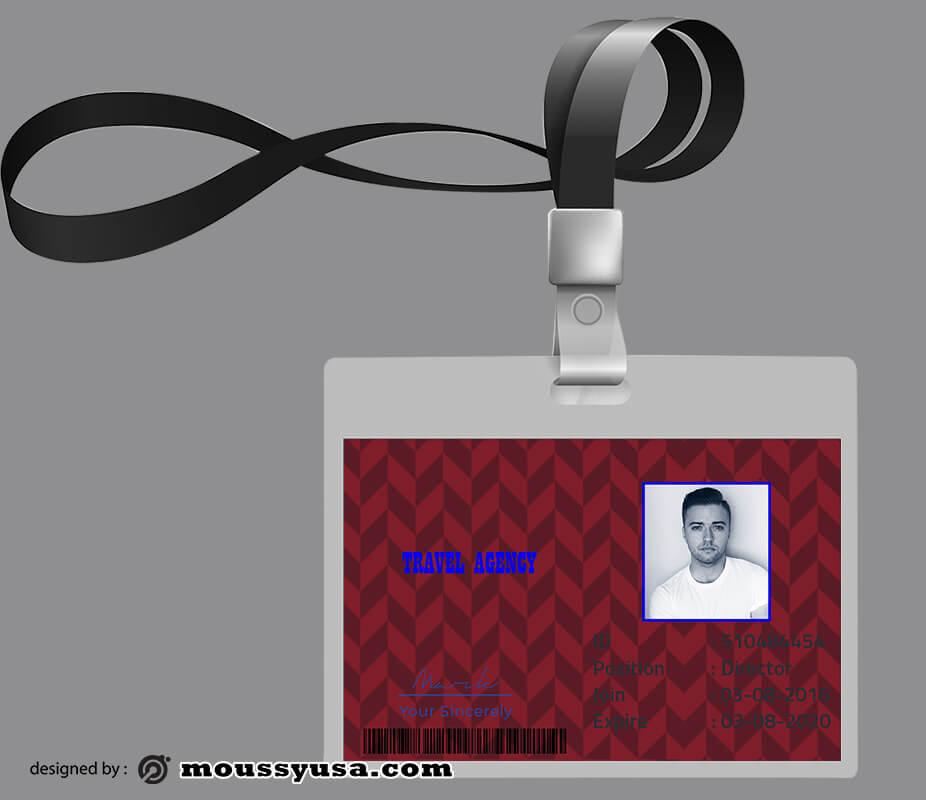 Travel Agency ID Card Design Ideas