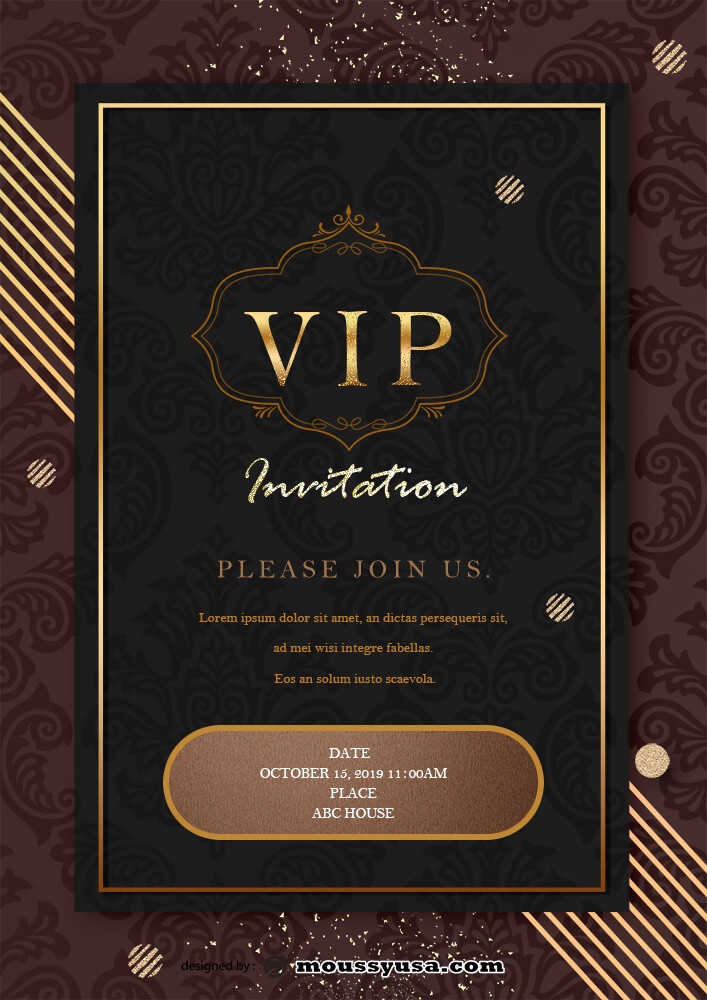 VIP Invitation Design Ideas