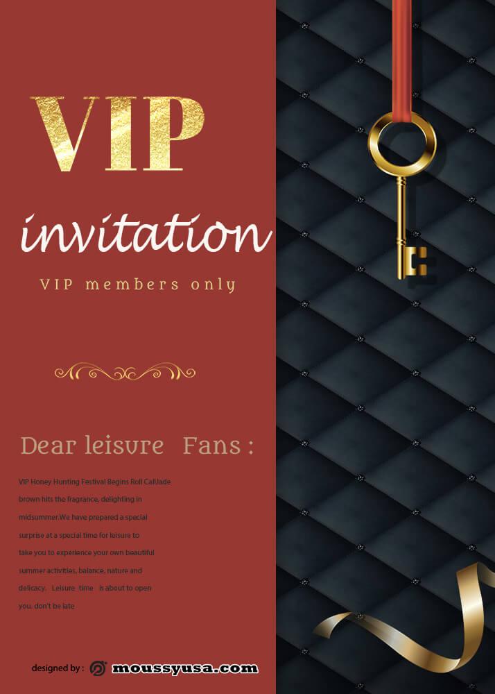 VIP Invitation Design Template