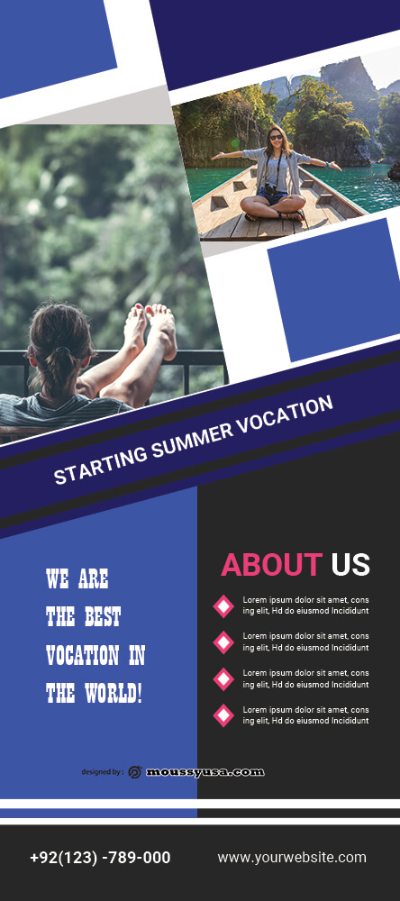 Vacation Banner Template Design