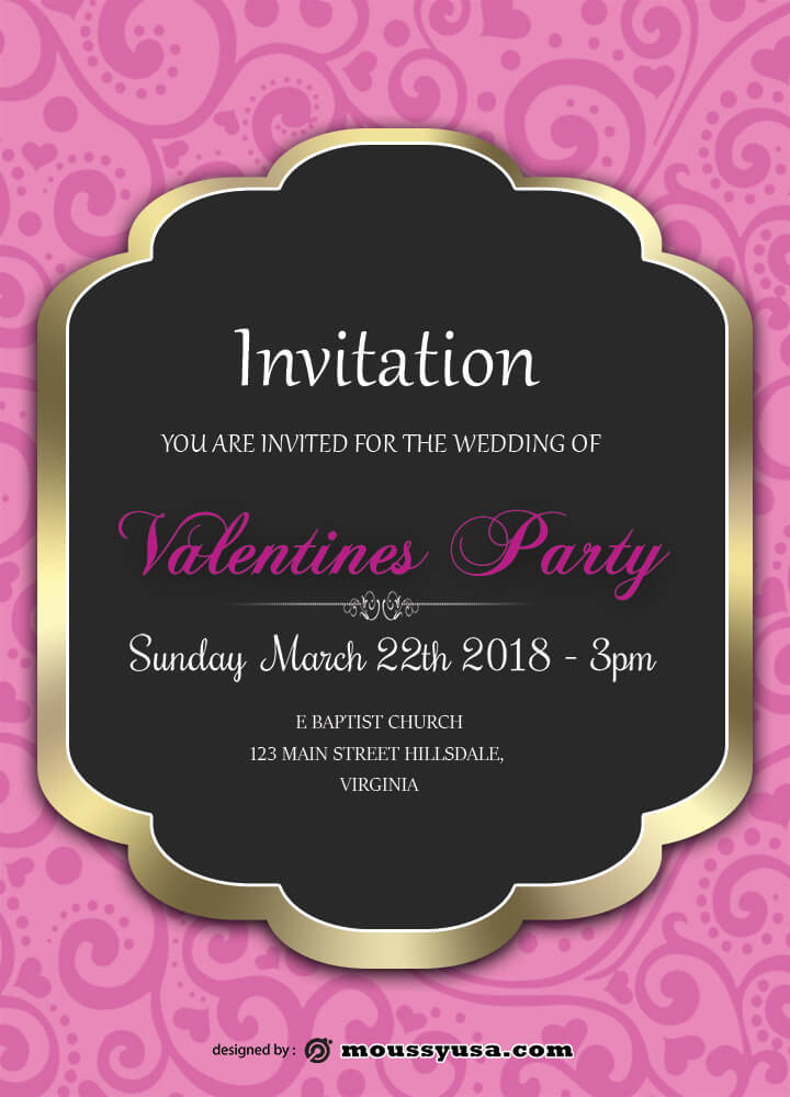 Valentines Party Template Design