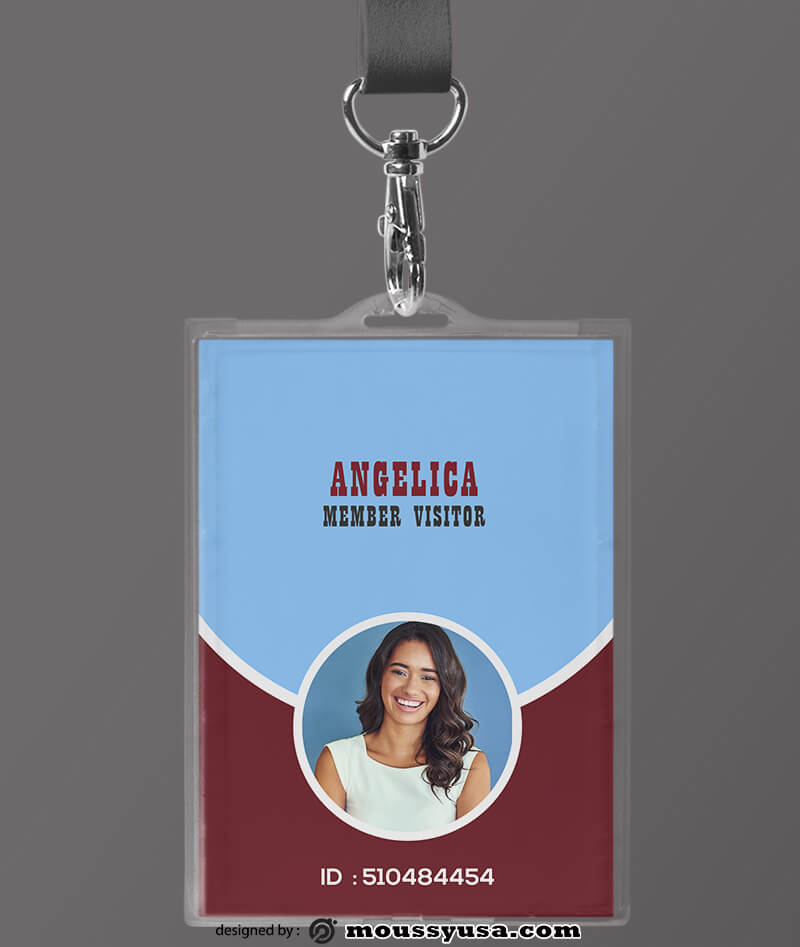Visitor ID Card Design PSD