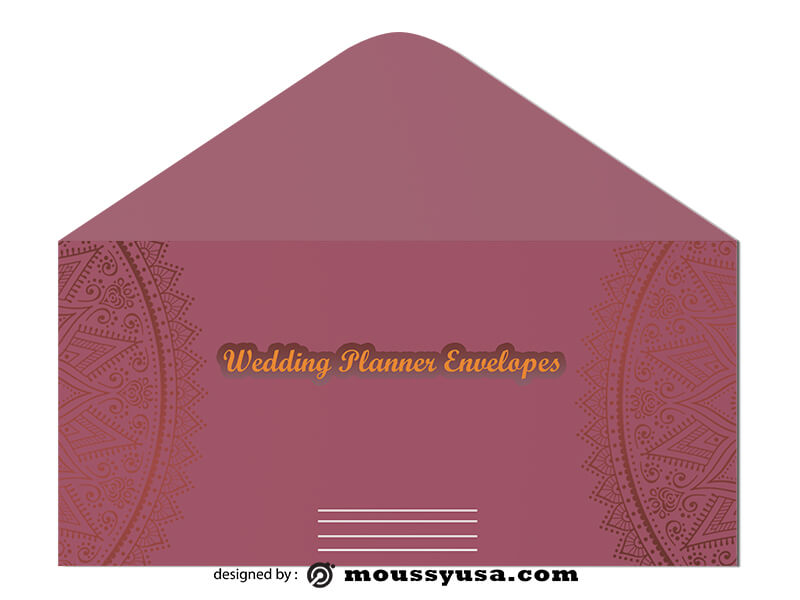 Wedding Planner Envelope Design Ideas