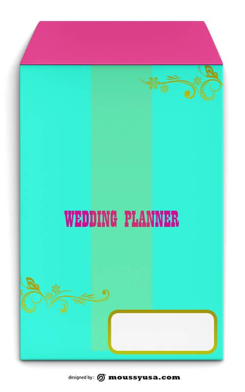 Wedding Planner Envelope Design PSD