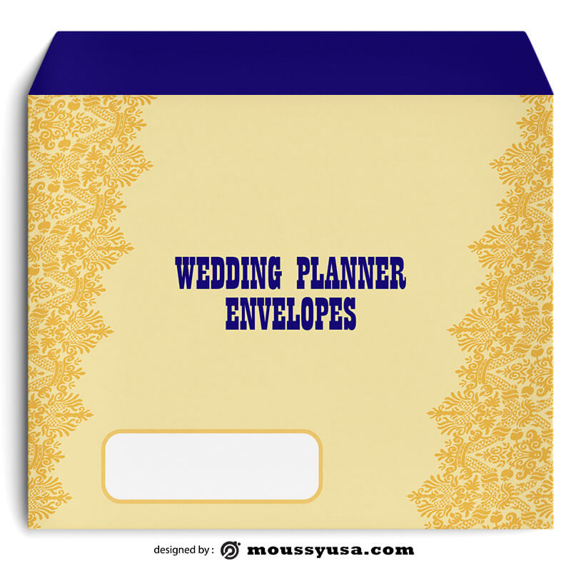 Wedding Planner Envelope Design Template