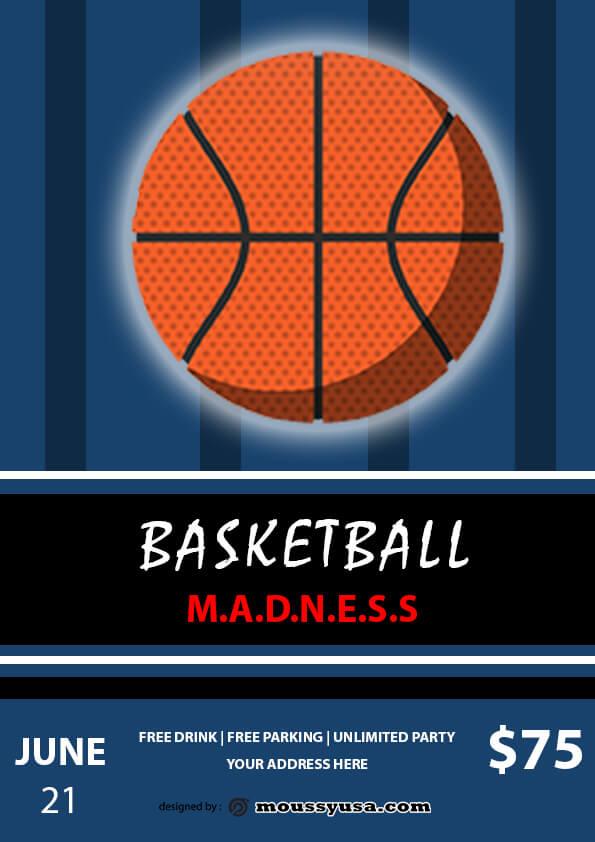 basketball madness flyer template ideas