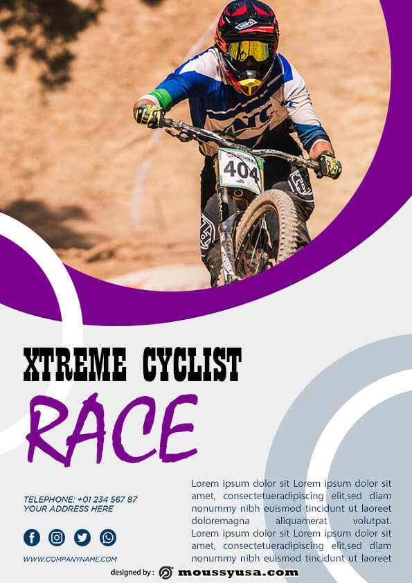 bicyle racing flyer template ideas