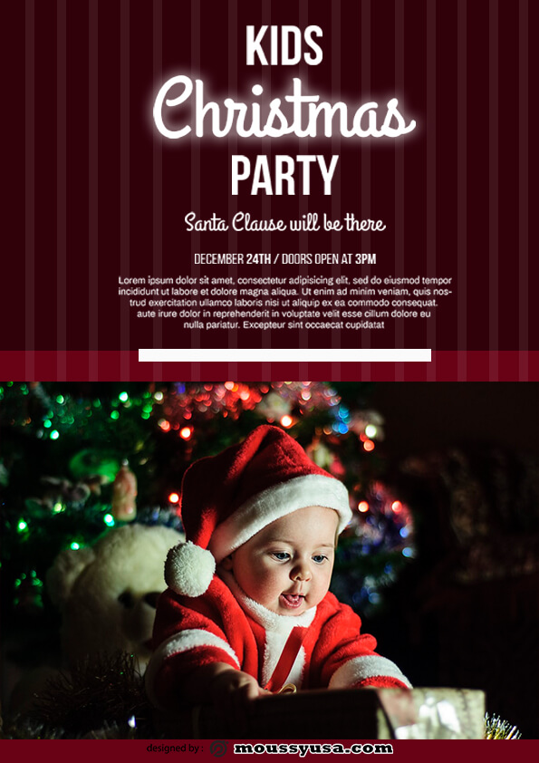 christmas party flyer template ideas