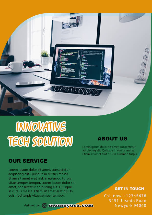 computer service flyer template ideas